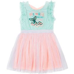 Little Lass Toddler Girls Sequin Mermaid Tulle Dress