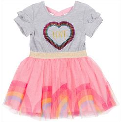 Little Lass Toddler Girls Sequin Love Tulle Dress