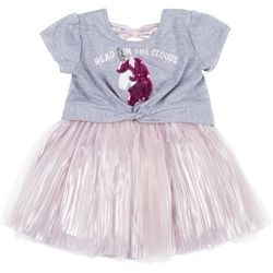 Little Lass Toddler Girls Head In The Clouds Unicorn Dress