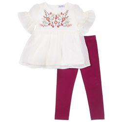Nicole Miller New York Toddler Girls Floral Dot Leggings Set