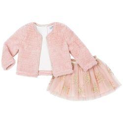 Nicole Miller New York Toddler Girls 3-pc. Fur Jacket Set