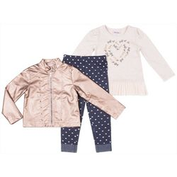 Little Lass Toddler Girls 3-pc. Full of Love Leggings Set
