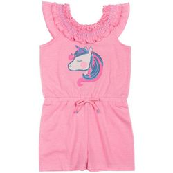 Little Lass Toddler Girls Unicorn Romper