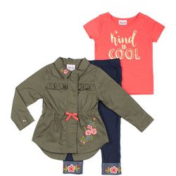 Little Lass Toddler Girls 3-pc. Kind Is Cool Jacket Set