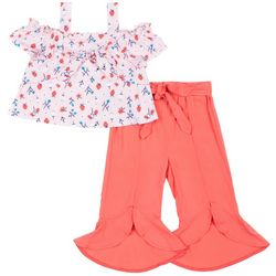 Little Lass Toddler Girls Strawberry Off Shoulder Pants Set