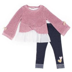 Little Lass Toddler Girls 2-pc. Twist Front Sweater Set