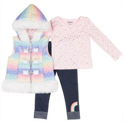 Little Lass Toddler Girls 2-pc. Rainbow Sweater Set