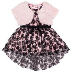 Little Lass Toddler Girls Floral Print Dress Shrug Set