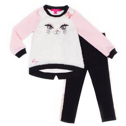Betsey Johnson Toddler Girls 2-pc. Faux Fur Cat Leggings Set