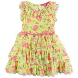 Betsey Johnson Toddler Girls Floral Print Ruffle Dress