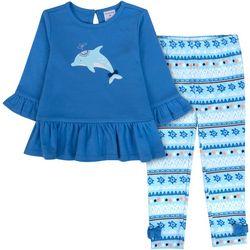 Sunshine Baby Toddler Girls Dolphin Bow Hem Pants Set