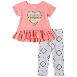 Kidtopia Toddler Girls 2-pc. Geo Heart Legging Set