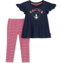 Nautica Toddler Girls Anchor Floral Leggings Set