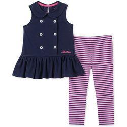 Nautica Toddler Girls Nautical Stripe Leggings Set