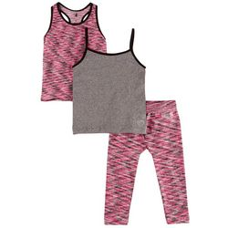 Body Glove Toddler Girls 3-pc. Heather Cami Capris Set