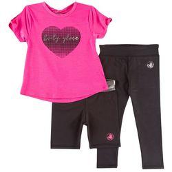 Body Glove Toddler Girls 3-pc. Heart Active Leggings Set