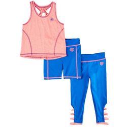 Body Glove Toddler Girls 3-pc. Active Cutout Leggings Set