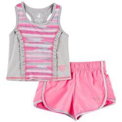 Body Glove Toddler Girls Active Ruffle Tank Shorts Set