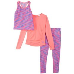 Body Glove Toddler Girls 3-pc. Space Dye Active Pants Set