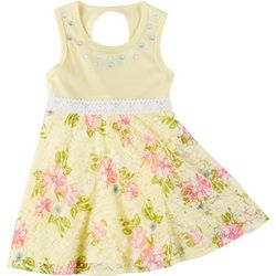 RMLA Toddler Girls Sleeveless Floral Lace Dress