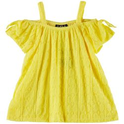 RMLA Toddler Girls Medallion Lace Cold Shoulder Dress