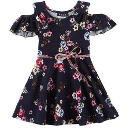 RMLA Toddler Girls Floral Cold Shoulder Dress