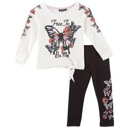 RMLA Toddler Girls Free To Be Me Butterfly Pants Set