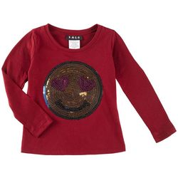 RMLA Toddler Girls Sequined Smiley Face T-Shirt