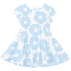 Flapdoodles Toddler Girls Daisy Smocked Dress