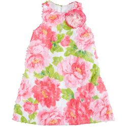 Pippa & Julie Toddler Girls Floral Mesh Dress