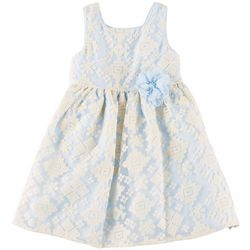 Pippa & Julie Toddler Girls Embroidered Flower Dress