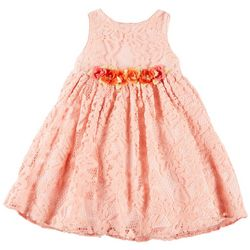 Pippa & Julie Toddler Girls Lace Flower Belt Dress