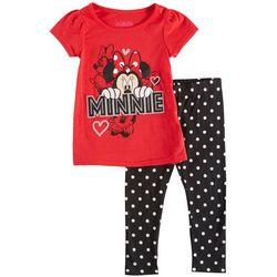 Disney Minnie Mouse Toddler Girls Dot Leggings Set