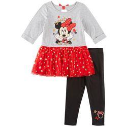 Disney Minnie Mouse Toddler Girls Sweet Leggings Set