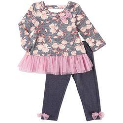 Nannette Toddler Girls Floral Tutu Leggings Set