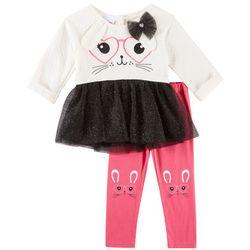 Nannette Toddler Girls Bunny Tutu Leggings Set