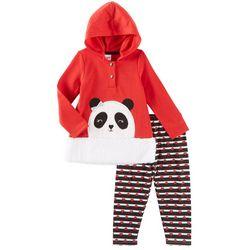 Nannette Toddler Girls Panda Love Hoodie Leggings Set