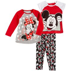 Disney Minnie Mouse Toddler Girls 3-pc. Mickey Pants Set