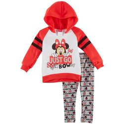 Nannette Toddler Girls Minnie Mouse Bowtiful Sweatshirt Set
