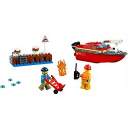 Lego City Dock Side Fire Building Set