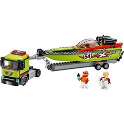 Lego City Race Boat Transporter Building Set