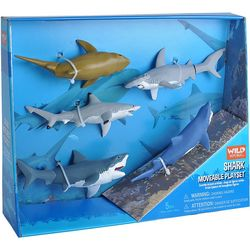 Wild Republic 5-pc. Shark Moveable Play Set