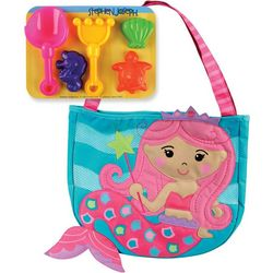 Stephen Joseph Girls Mermaid Beach Tote & Sand Tools
