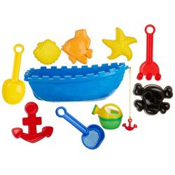 Toysmith 9-pc. Pirate Ship Beach Playset