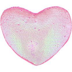Capelli Girls Reversible Sequin Heart Pillow