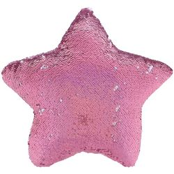 Capelli Girls Reversible Sequin & Fur Star Pillow