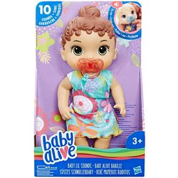 Hasbro Baby Alive Interactive Brown Hair Baby Doll