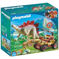 Playmobil 54-pc. Stegosaurus & Vehicle Play Set