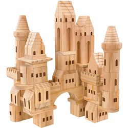 FAO Schwarz 75-pc. Solid Wood Castle Blocks