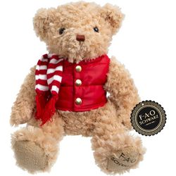 FAO Schwarz Holiday Vest Bear Plush Toy
